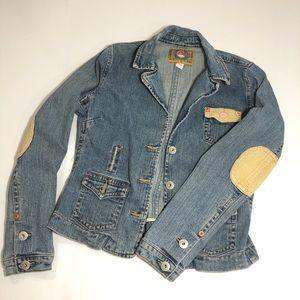 Vintage ZB Jeans Hippie Boho Jean Jacket Blazer